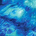 Our Ocean print is a beautiful 3d water image.