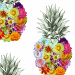 Pineapple Flower, is a fun image to use in anyone of your projects.